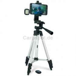 Selfie Stativ Set + Fernbedienung + LED Licht