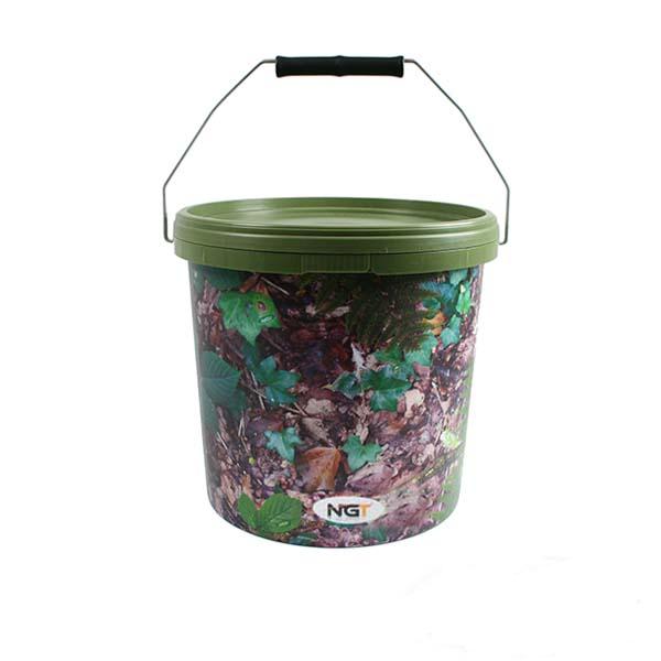 futtereimer 5 liter angeleimer realtree camo bucket ngt eimer boilies pellets ebay. Black Bedroom Furniture Sets. Home Design Ideas